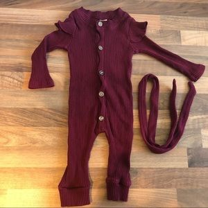 Baby romper with matching headband size 0-3mths
